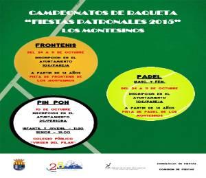 CAMPEONATOS DE RAQUETA